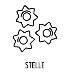 Stelle pasta icon outline style vector