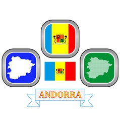 symbol of Andorra vector image
