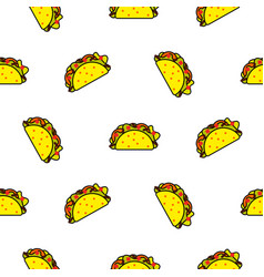Taco mexican food seamless pattern vector