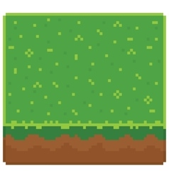 Texture for platformers pixel art - ground vector image