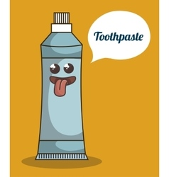 Toothpaste product character icon vector