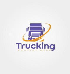 Truck logo template icon design element vector