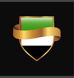 uae flag golden badge design vector image