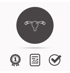 Uterus icon Ovary sign vector image