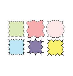Wavy frames design elements vector