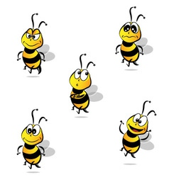 Whimsical bees vector