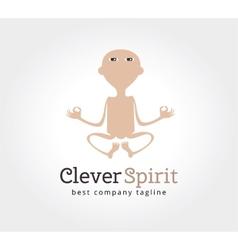 Abstract yoga man logo icon concept Logotype vector image vector image