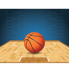 Basketball Bracket Court and Ball vector image vector image
