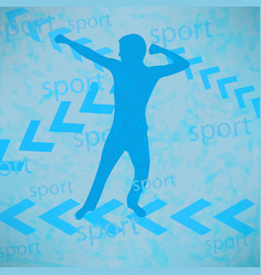 abstract silhouette of the champion vector image