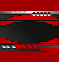 black and red stripes abstract background vector image vector image