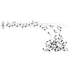 black notes vector image vector image