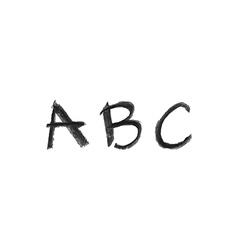 hand drawn chalk abc vector image