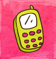 Cellphone Cartoon vector image vector image