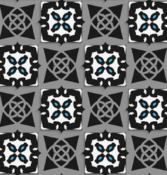 Geometrical Arabian ornament black and white with vector image