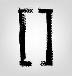 grunge tire glyphs vector image vector image
