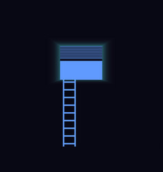 ladder to the window blue staircase light vector image vector image