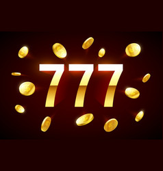 lucky sevens jackpot three lucky sevens with vector image vector image