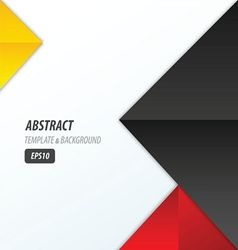 pyramid design template 3 color yellow black red vector image