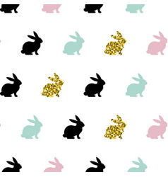 seamless pattern with rabbits vector image