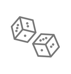 simple dice line icon symbol and sign vector image