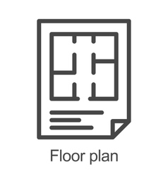 Flat floor plan icon vector image vector image