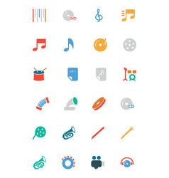Music colored icons 2 vector
