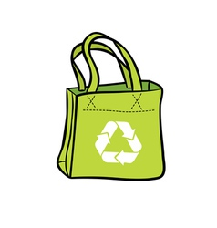 recycle shopping bag vector image