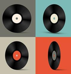 Retro Vinyl Records Set vector image
