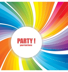 Abstract Banner with Strips for Party vector image