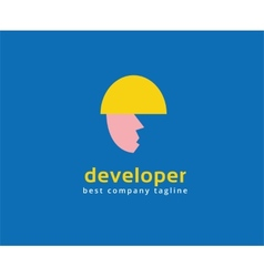 Abstract developer logo icon concept Logotype vector image