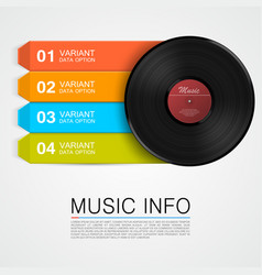 abstract music info vinyl disk vector image