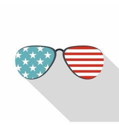 American glasses icon flat style vector