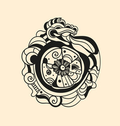 Ancient mayan tattoo picture vector
