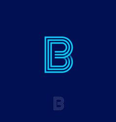 B letter monogram linear gold identity vector