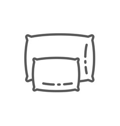 big and small pillows line icon vector image