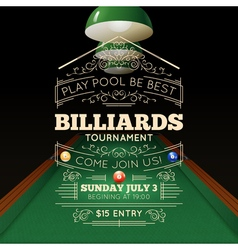 Billiards Poster vector image