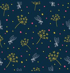botanical pattern vector image
