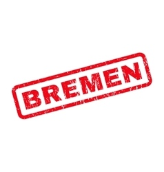 Bremen Rubber Stamp vector
