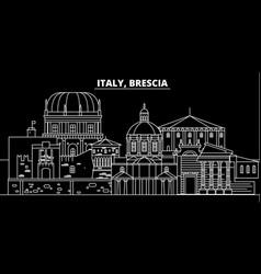 Brescia silhouette skyline italy - brescia vector