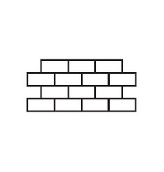 brick wall icon design template isolated vector image