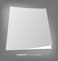 brochure or magazine mockup on gray vector image