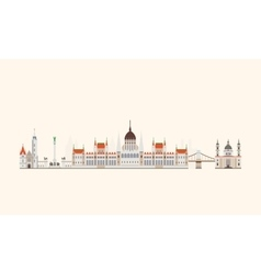 Budapest abstract skyline vector