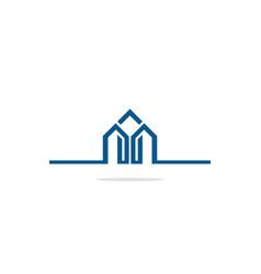 building company line logo vector image