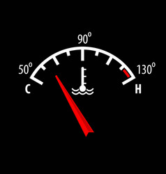 Car engine temperature gauge icon for your design vector