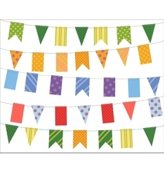 Celebrate banner Party festival flags collection vector