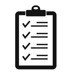 Check list icon simple style vector