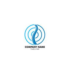 chiropractic concept logo design template vector image