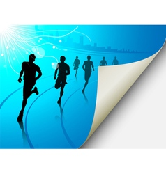 cityscape runners background vector image