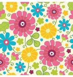 Colorful kimono flowers seamless pattern vector