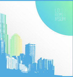 colorful panorama city art vector image